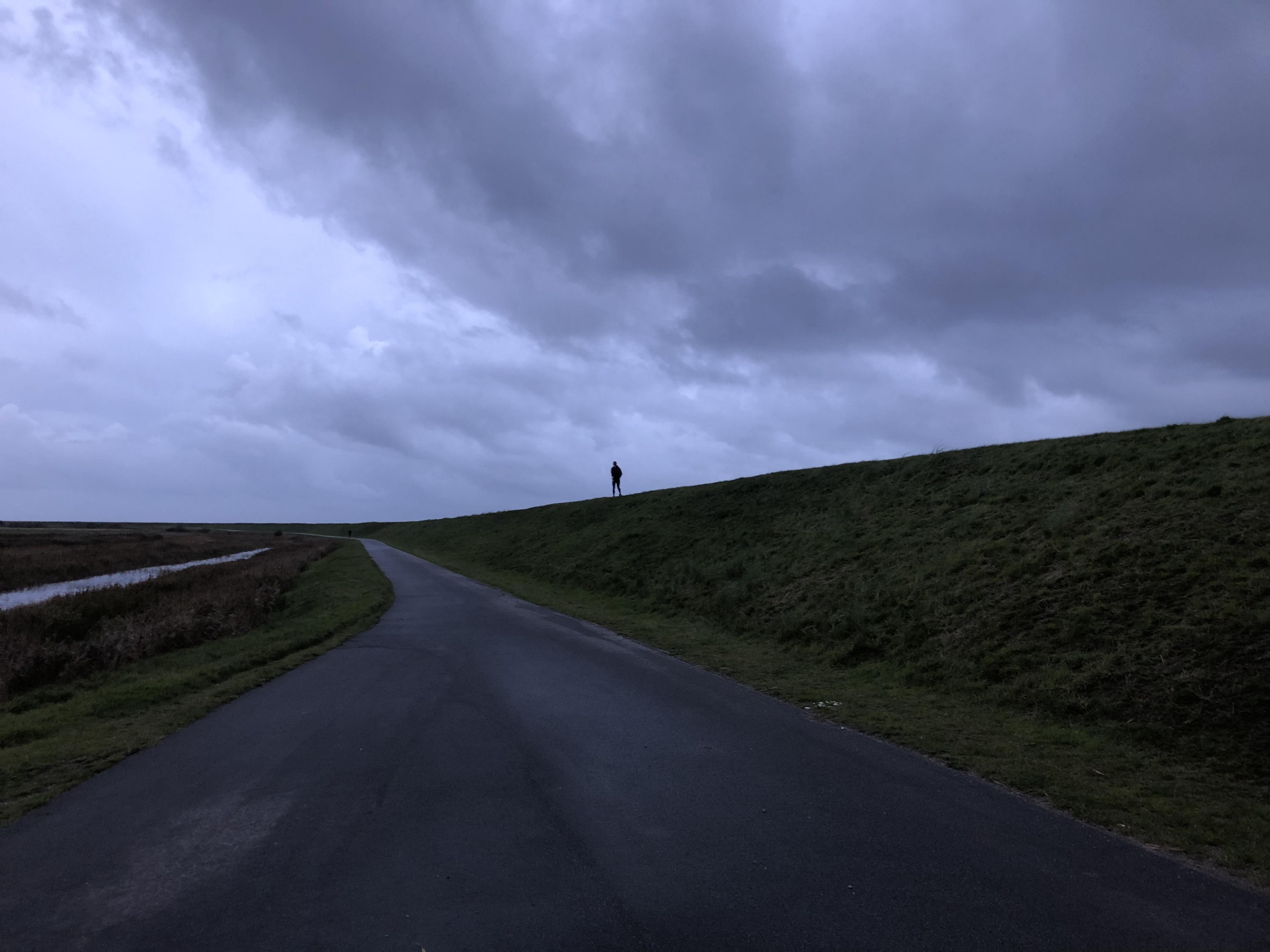 Det var en mørk og blæsende aften ….. Løb på havets bund fra fastlandet til Mandø