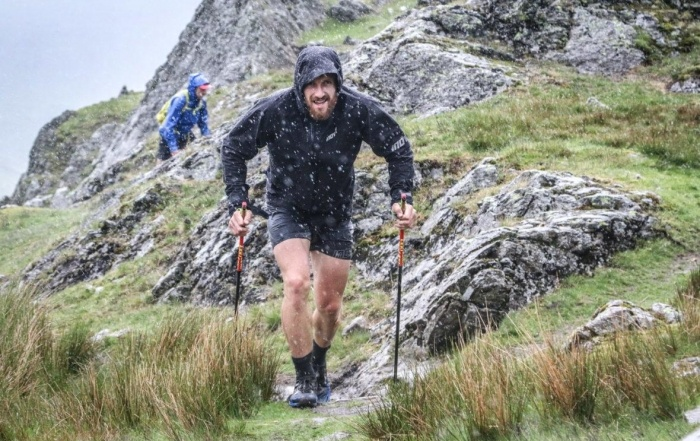 """Paul Tierney, an ambassador for running brand inov-8, during his record-breaking Wainwrights run in the Lake District. Photo by Pete Aylward'"